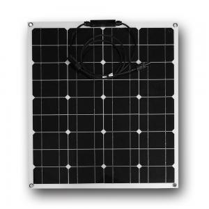 China Weather Proof Semi Flexible Solar Panel 50W 18V Safety For Outdoor Sport on sale