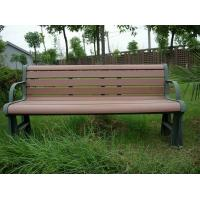 China Ecological Prefab Outdoor Park Benches , Outdoor Patio Bench With Steel Frame on sale