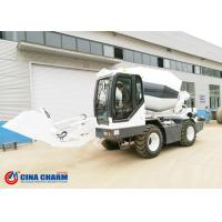 China Diesel Industrial Concrete Mixer , Heavy Duty Self Loading Concrete Truck Mixer Machine on sale