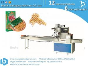 China Chocolate chip cookie finger Popsicle cheese Popsicle corn tomato horizontal straight pillow automatic packaging machine on sale