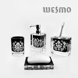 China 石鹸ディスペンサー、歯ブラシのホールダー、タンブラー* 2PCSの石鹸入れと置かれるPolyresinの浴室 on sale