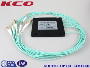 China GPON EPON FTTH 1x8 Multimode Fiber Optic Splitter , OM3 Optical Fiber Coupler 50/125 on sale