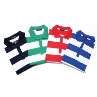 China Fashionable Style Casual Work Uniforms , Classic Mens Polo Shirts With Yarn Dyed Stripe on sale