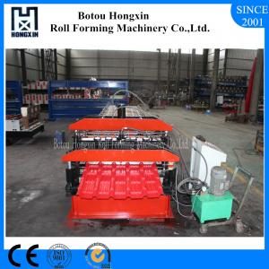China Double Layer Glazed Tile Roll Forming Machine For Roofing Panel 72mm Roller on sale