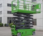 13.8 Meters Electric Elevated Self Propelled Scissor Lift with Extension Platform , 230Kg