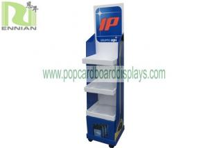 China Store Card Display Stand Recycable 4C CMYK Full Color UV Coating on sale