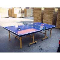 Indoor Outdoor Table Tennis Table , Blue Folding Ping Pong Table For Competition