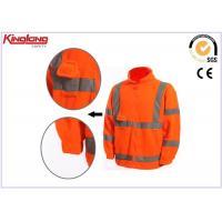 China Customize Full Zipper Polar Fleece Jacket , Man Fleece Jacket 100% Polyester on sale
