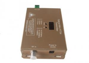 China Mini CATV Laser Transmitter , 2 Output 10m 1550nm Optical Transmitter With 10mw/12mW on sale