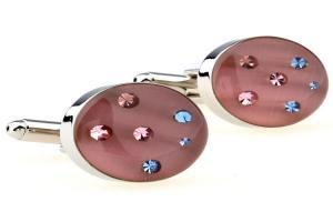 China Rose Gold Custom Made Cufflinks , Enamel Process Mens Gold Cufflinks on sale