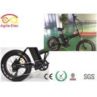 Fat Hub Motor Electric Fold Up Bike , 48V 750W Folding Electric Bicycles