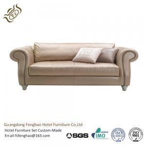 China Modern Cream PU Leather Couch Corner Sofa Set / Leather Sectional Sofa on sale