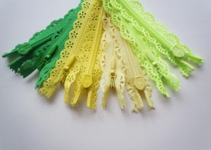China Custom Length Double Sided Sewing Notions Zippers , Nylon Lace Zipper For Clothes on sale