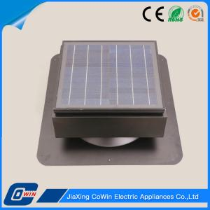 China 12 Volt Solar Panel Roof Vent Fan , Battery Power Solar Roof Exhaust Fan on sale