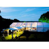 Portable Wedding Canopy Tent 3-50 M Width Polyester Textile With Plywood Floor