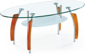 China hot sale  tempered glass,stainless steel leg with wood tea table A050 on sale