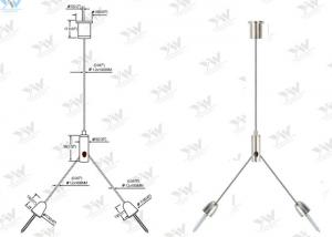 China Nickel Finishing Color LED Panel Light Suspension Kit With Cross Cable Gripper on sale