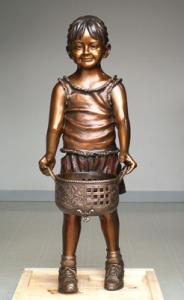 China Bronze Based Art Deco Playing Boy Sculpture on sale
