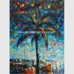 Hand Painted Palette Knife Oil Painting Seascape Gulf of Mexico Wall Art Decoration