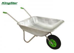 China Double Twin Heavy Duty Garden Cart Single Wheel Trolley High Load Capacity on sale