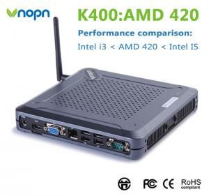 China cheap price K400 AMD MINI PC 2g ram 64g ssd wifi windows 10 Quad core thin client for Small office on sale