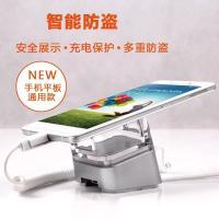 COMER  New security alarm anti-theft holders smartphone floor display stand with sensor alarm charging