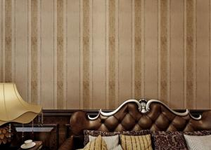 China Yarn Modern Removable Wallpaper 0.53m Brown Living Room Wallpaper on sale