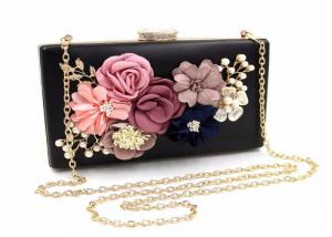 China Elegant Flora Bridal Evening Clutch Bags 18 * 11 * 5cm  For Women on sale
