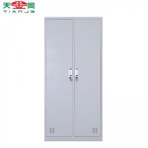 China TJG High quality 2 doors steel storage cabinet cloth locker wardrobe on sale
