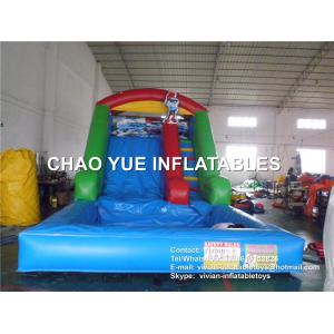 China Digital Printing Fireproof Inflatable Slides 3 Years Warranty For Backyard on sale