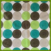 Printed ball designs table cloth made of 100% polyester woven fabric cloths