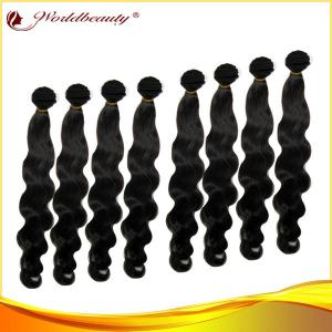 China 1# 24 Inch Body Wave Remy Human Hair Extensions Weft For Women on sale