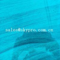 High Density PVC Plastic Sheet Transparent Blue Soft Super Thin Flexible