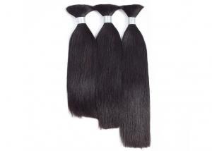 China Straight Bulk Human Hair Extensions , Unprocessed Russian Hair Extensions Bulk supplier