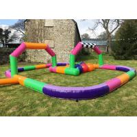 Inflatable Toy Outdoor Cars Race Track , Go Kart Race Track For Sport Game