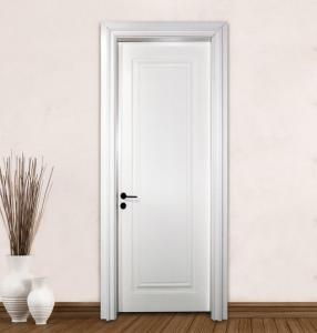 Quality Modern Design Solid Wood Mdf Wooden Doors Interior Bathroom With