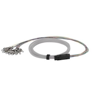 China 3 M Fiber Optic Pigtail , ST White Commom Tube Bounded Fibre Optic Tails on sale
