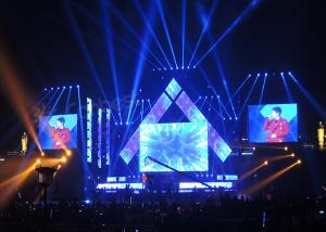 China Stage Rental LED Advertising Screen P4 Fast Assembly Outdoor LED Display For Concerts on sale