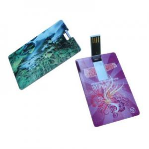 China USB Version 2.0 Credit Card USB Stick 16GB KC-939 With Reading At 10Mbps on sale