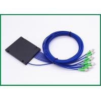 1xN Single Mode Fiber Coupler ABS Box Type Armoured Optical Cable FC / APC Connectors