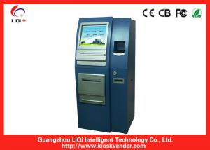 China Outdoor ATM Kiosk / LED Steel Payment Terminal LED Capacitive Touchscreen on sale