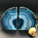 Soothing Natural Blue Crystal Polished Agate Slice Coasters