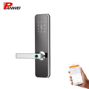 China 5 Star Magnetic Keypad Entry Door Lock Mechanical Key Free Software Password on sale