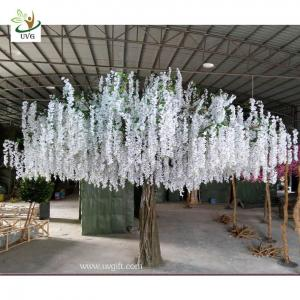 China UVG 4m large artificial decorative tree with wisteria blossom for home garden decoration on sale