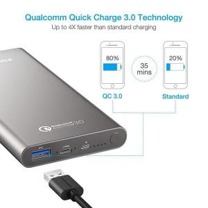China Poweradd 10000 mAh Portable Battery Charger Large Capacity Power Bank on sale