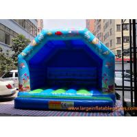 Blue Small Inflatable Air Bouncer For Trampolines And Structures / Inflatable Jumping Castle