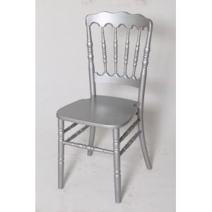 China Silver Wood Banquet Chairs , Contemporary UV Protection Chair For Ballroom / Church on sale