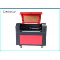 China 9060 MDF Plywood Co2 Laser Cutter Machine With 80w Ruida Control System Stepper Motor on sale