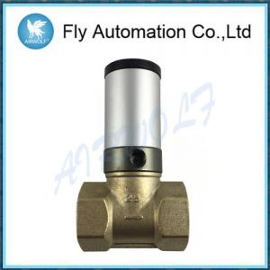 China Q22HD-25 DN25 1 Two Way Brass Tube Valve Pneuamtic Actuator Control Oil Liquid Valve on sale