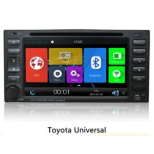 China 9-12v Double Din Car Dvd Players , In Dash Car Multimedia System For Toyota Universal on sale
